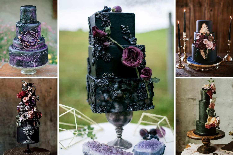 Темные свадебные торты 2021: фото и идеи
