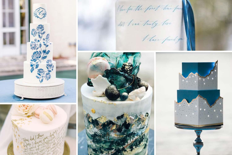 Уникальный торт на свадьбу с надписями, рисунками фото