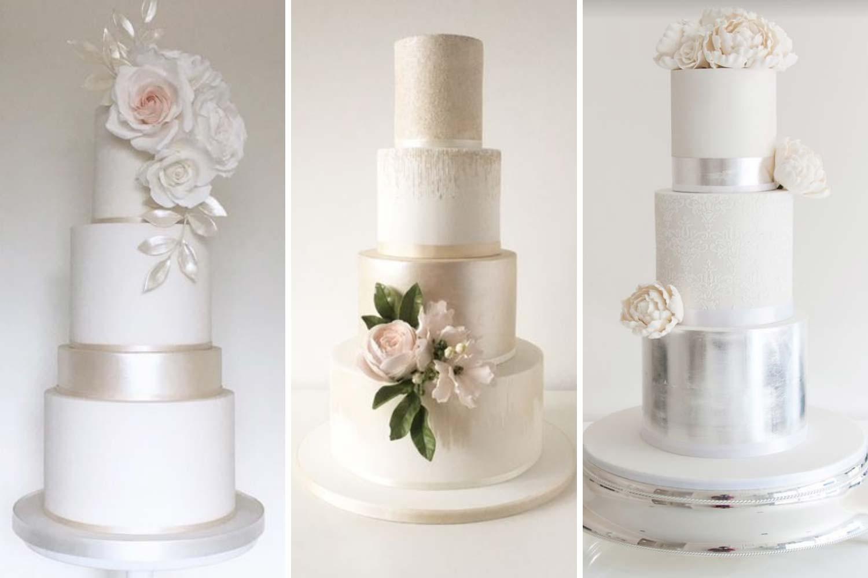 Блестящий белый торт фото