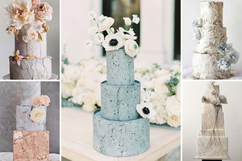 Текстурные свадебные торты 2021 фото