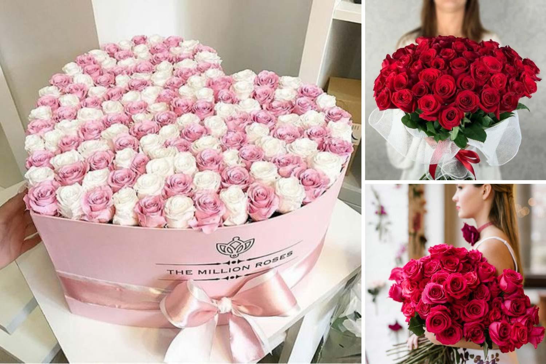 Большой букет роз в подарок фото