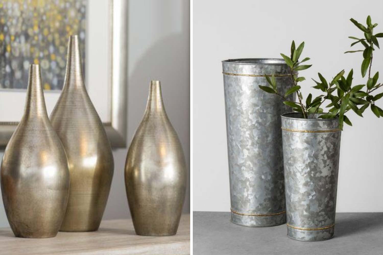 Металлическая ваза фото