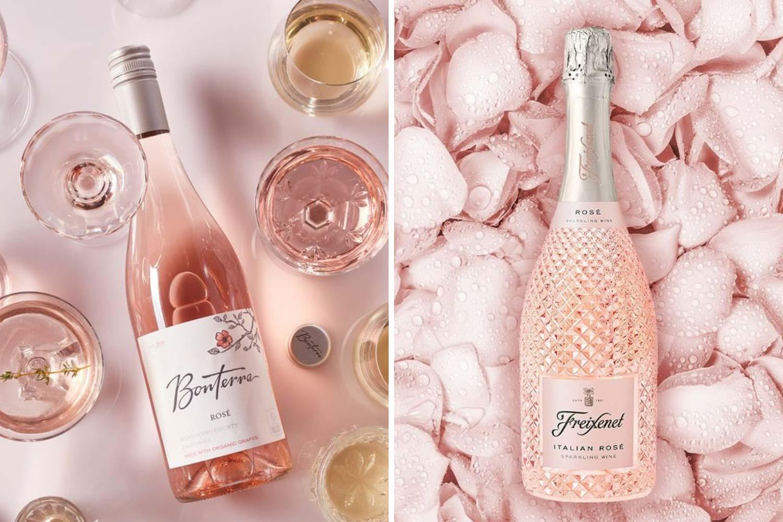 Розовое вино на годовщину 10 лет свадьбы фото