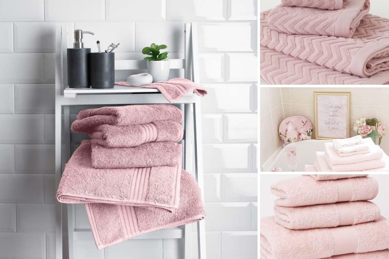 Розовые полотенца фото