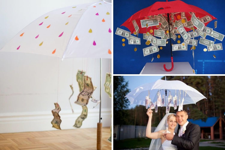 поздравления на свадьбу с вручением зонтика с деньгами молчаливая