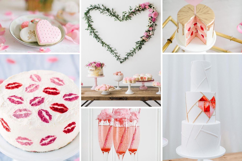 Кенди-бар ко Дню Святого Валентина, сладкий стол свадьба фото
